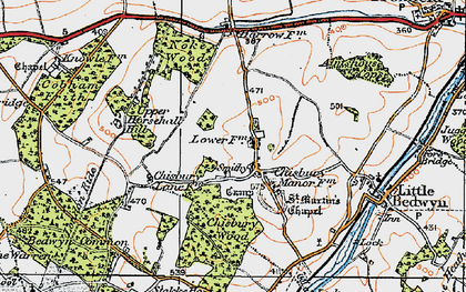 Old map of Almshouse Copse in 1919