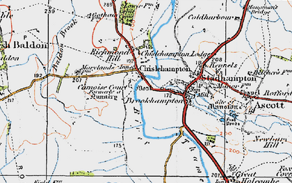 Old map of Chiselhampton in 1919