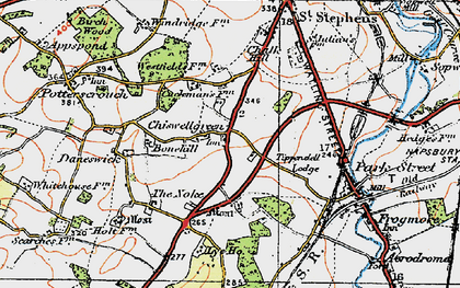 Old map of Chiswell Green in 1920