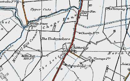 Old map of Chittering in 1920