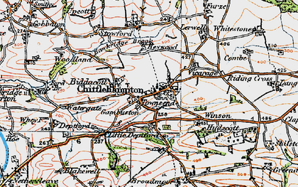 Old map of Winson in 1919