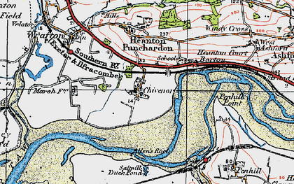Old map of Allen's Rock in 1919