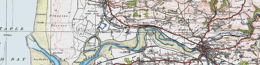 Old map of Allen's Rock in 1919