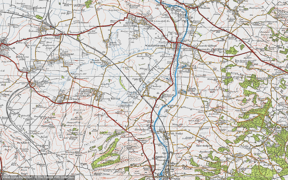 Old Map of Cholsey, 1919 in 1919