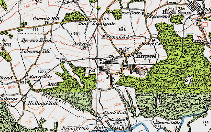 Old map of Ashtree in 1925