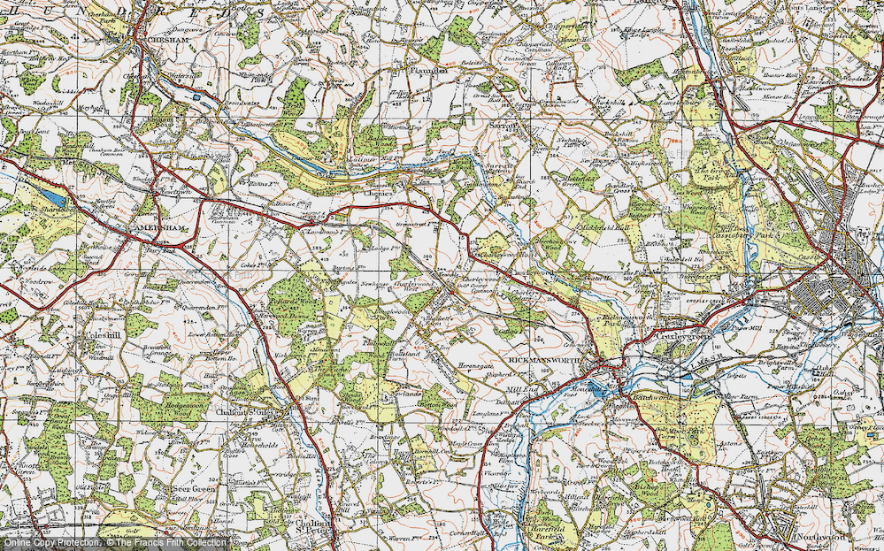 Old Map of Chorleywood, 1920 in 1920