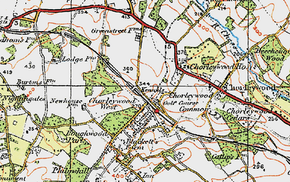 Old map of Chorleywood in 1920