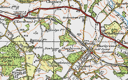 Old map of Chorleywood West in 1920
