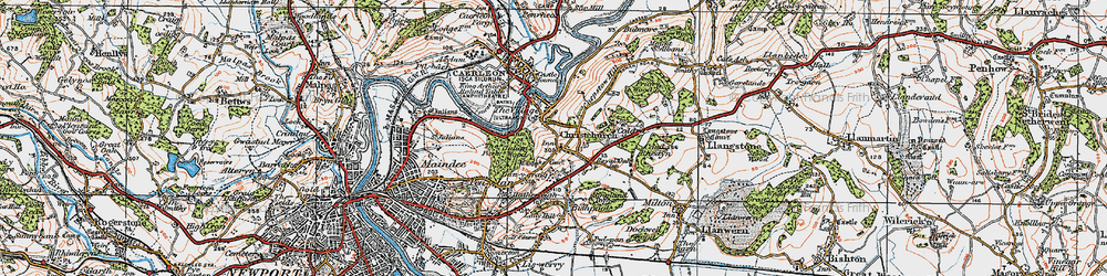 Old map of Christchurch in 1919
