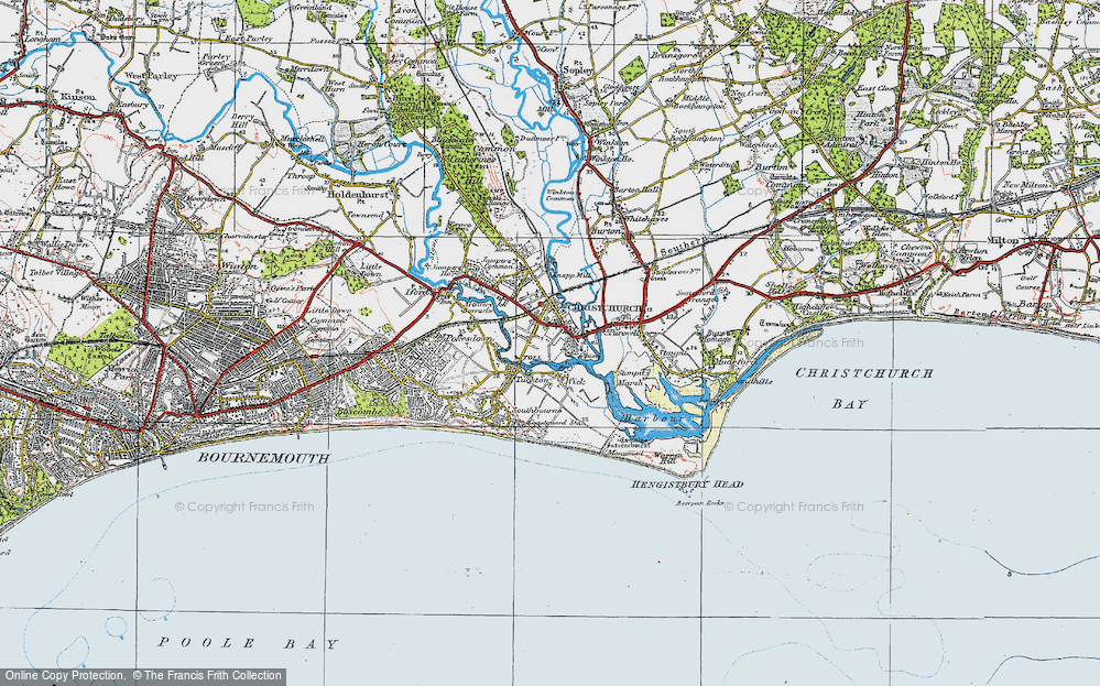 Map Of Uk Dorset.Old Maps Of Christchurch Francis Frith