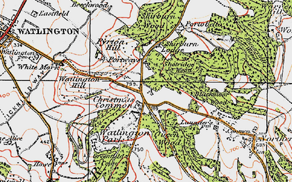 Old map of White Mark in 1919