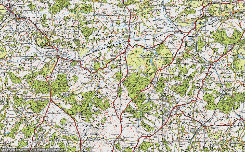 Old Map of Chuck Hatch, 1920 in 1920