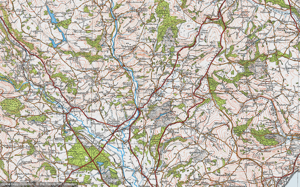 Old Map of Historic Map covering Lawell Ho in 1919