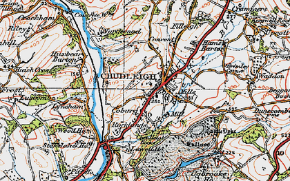 Old map of Chudleigh in 1919