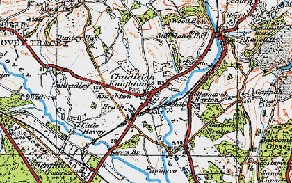 Old map of Chudleigh Knighton in 1919