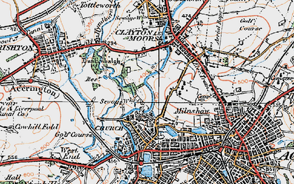 Old map of Church in 1924