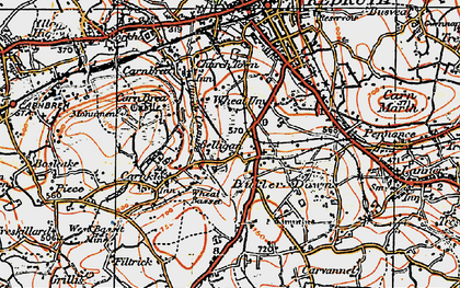 Old map of Church Coombe in 1919