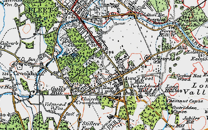 Old map of Aunt's Pool Hill in 1919