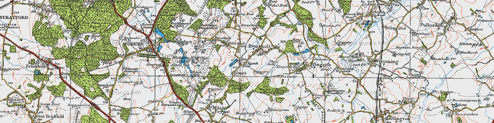 Old map of Witts End in 1919