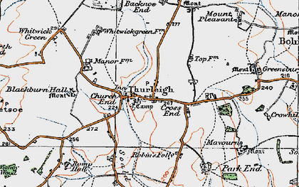 Old map of Backnoe End in 1919