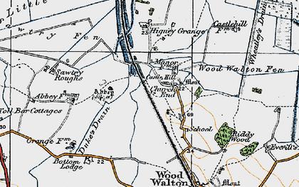 Old map of Woodwalton Fen in 1920