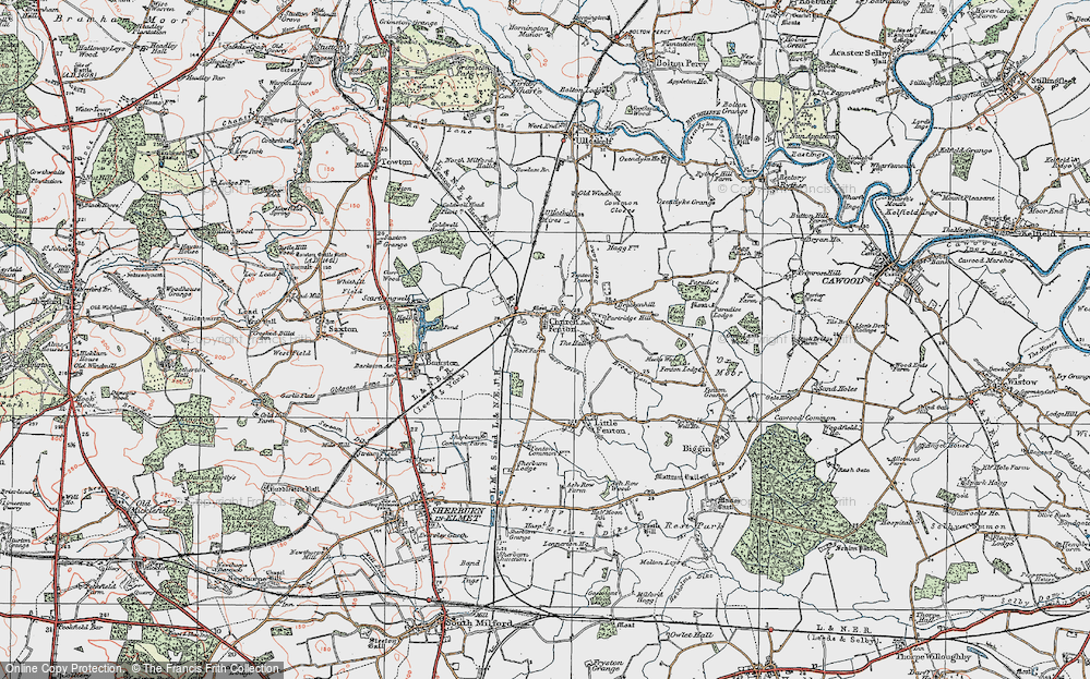 Old Map of Church Fenton, 1924 in 1924