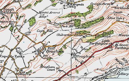 Old map of Abbot's Cliff in 1920