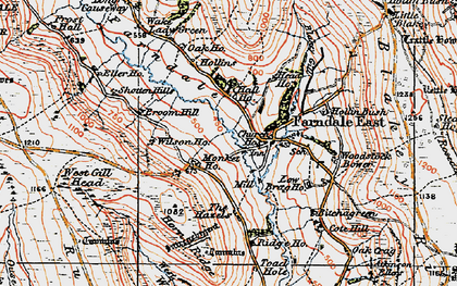 Old map of Woodstock Bower in 1925