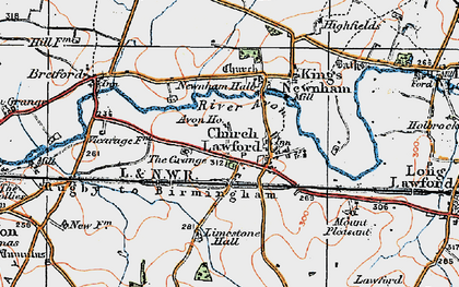 Old map of Avon Ho in 1920