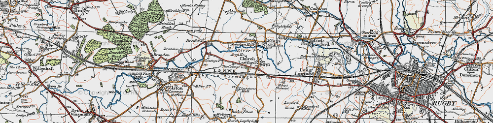 Old map of Limestone Hall in 1920
