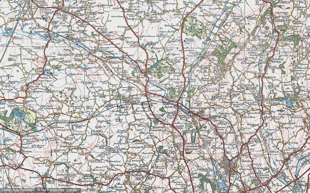 Old Map of Church Lawton, 1923 in 1923