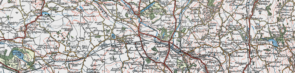 Old map of Church Lawton in 1923