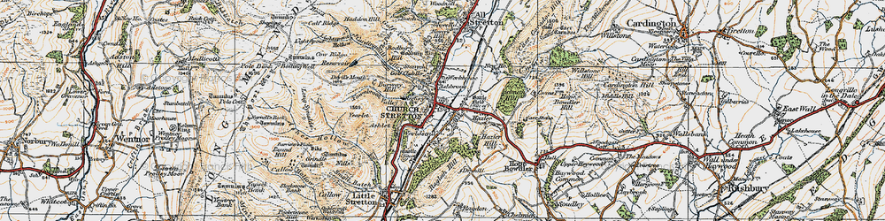 Old map of Church Stretton in 1920