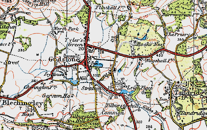 Old map of Church Town in 1920