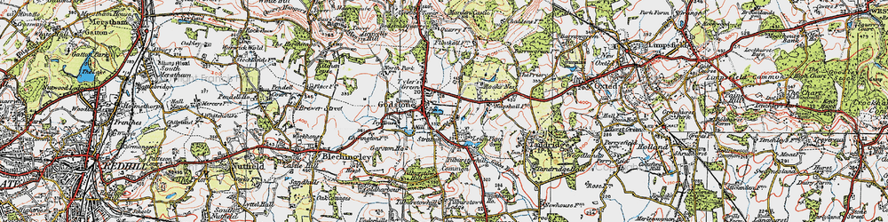 Old map of Tilburstowhill Common in 1920