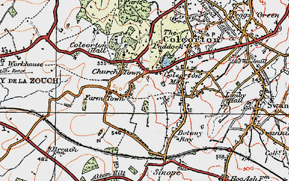 Old map of Alton Hill in 1921