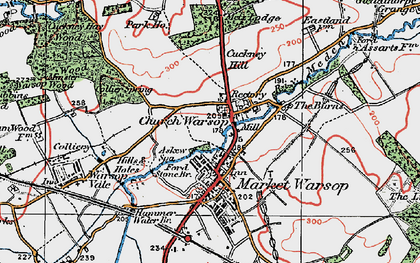 Old map of Askew Spa in 1923
