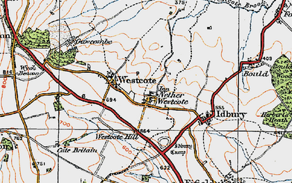 Old map of Church Westcote in 1919