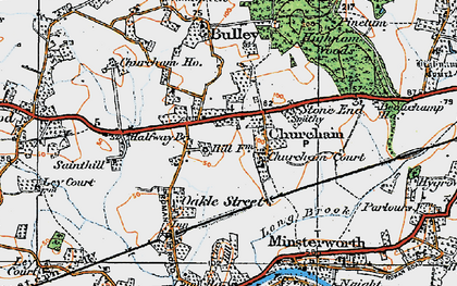 Old map of Churcham in 1919