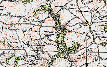Old map of Churchbridge in 1919