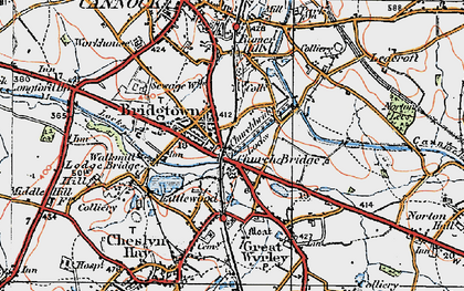 Old map of Churchbridge in 1921