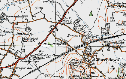 Old map of Churchdown in 1919