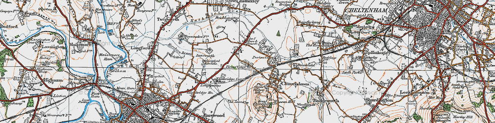 Old map of Tinker's Hill in 1919
