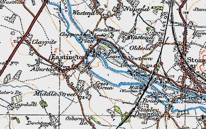 Old map of Churchend in 1919