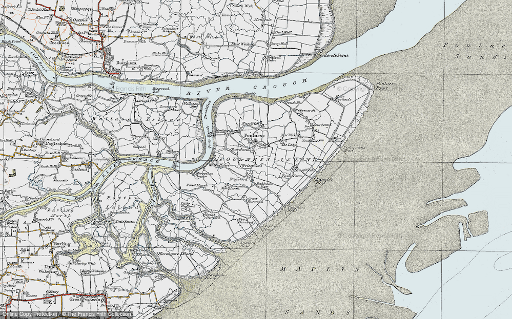 Old Map of Historic Map covering Asplins Head in 1921