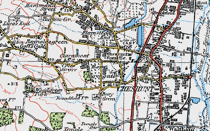 Old map of Churchgate in 1920