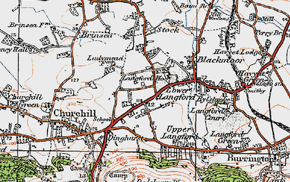Old map of Churchill in 1919