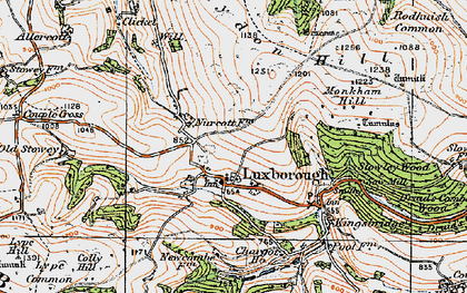 Old map of Withycombe Scruffets in 1919