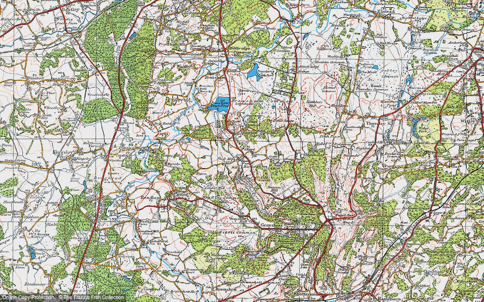 Old Map of Churt, 1919 in 1919