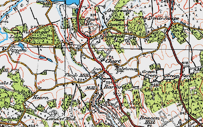 Old map of Churt in 1919
